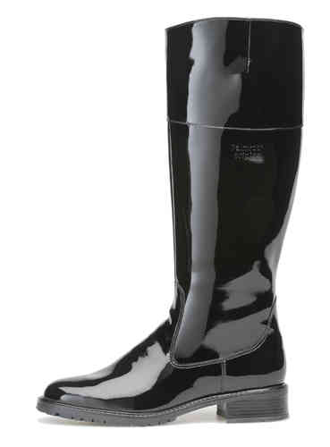 Palmroth boot black patent