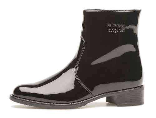 Palmroth ankle boot black patent