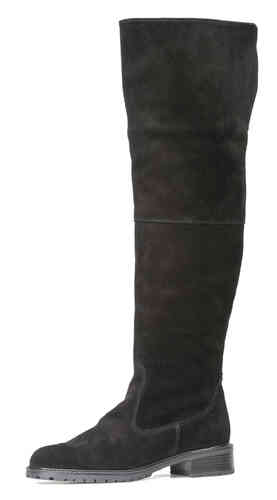 Over-knee-boot black suede