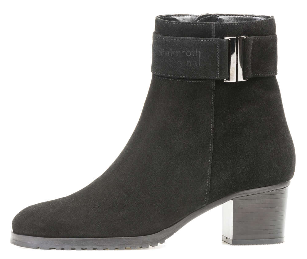 Palmroth mid high heel ankle boot black suede - High quality shoes ... cb645f8dd