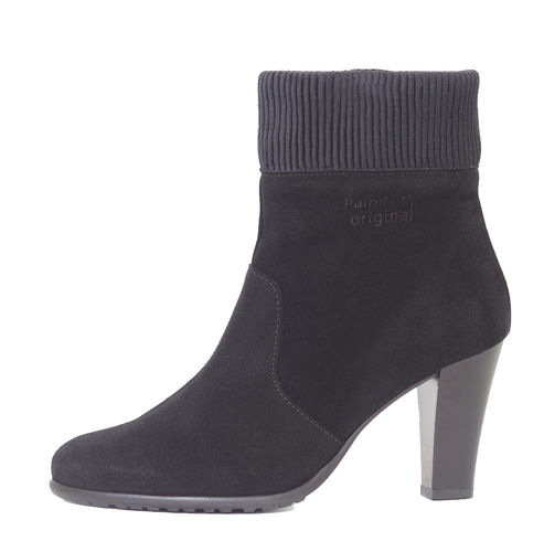 Palmroth high heel ankle boot black suede -30%