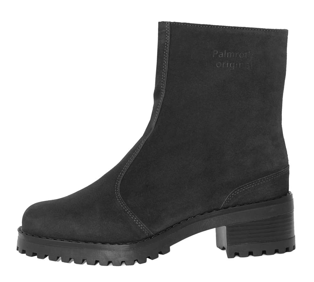 7b839cb9f52a Palmroth ankle boot black suede - High quality shoes for women