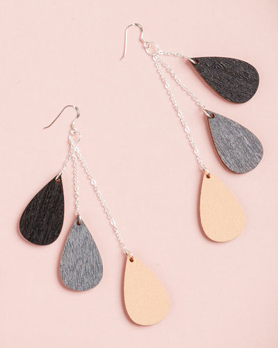 Uhana Design Drop earrings, dark