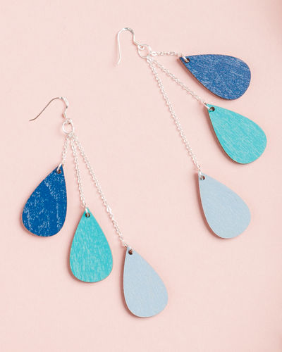 Uhana Design Drop earrings, blue