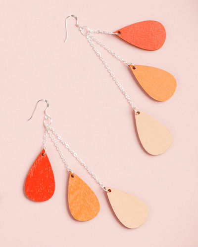 Uhana Design Drop earrings, red
