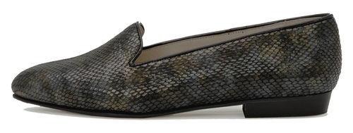 Emelie loafer dark snake 85064