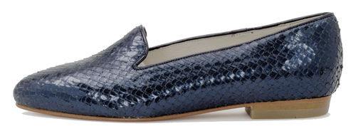 Emelie loafer blue snake 85064