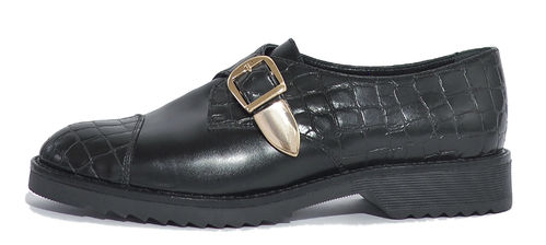 Monk shoe black matt croco 85066