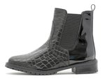 Chelsea boot black croco/patent 83155 -20%
