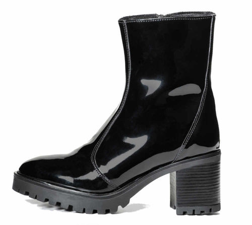Ramona ankle boot black patent 83183