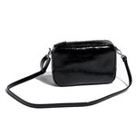 Palmroth crossbody bag black crush patent