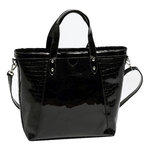 Palmroth bag black patent/croco