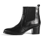 Mid high heel ankle boot black leather 83126 -20%