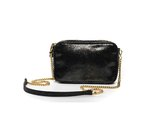 Small crossbody bag in dark snake